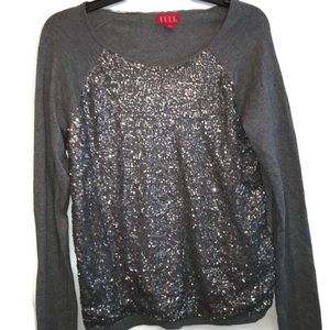 Elle Gray Silver Sequence Sweater